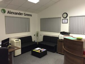 Our office waiting area